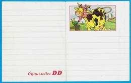 """Papier à Lettre """"Chaussettes DD"""" Vache Par Maurice Parent Illustrateur - Publicités"""