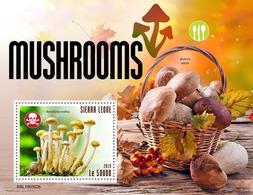 SIERRA LEONE 2019 - Mushrooms S/S. Official Issue. - Paddestoelen