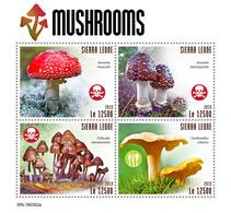 SIERRA LEONE 2019 - Mushrooms. Official Issue. - Paddestoelen