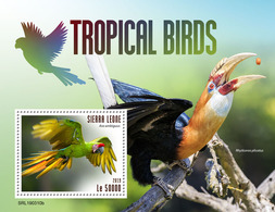 SIERRA LEONE 2019 - Tropical Birds S/S. Official Issue. - Andere