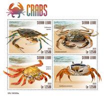 SIERRA LEONE 2019 - Crabs. Official Issue. - Schaaldieren