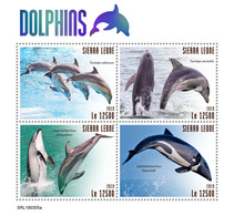 SIERRA LEONE 2019 - Dolphins. Official Issue. - Dolfijnen
