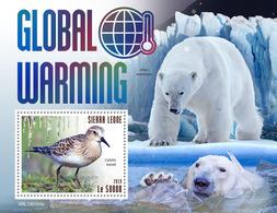 SIERRA LEONE 2019 - Global Warming, Bears S/S. Official Issue. - Beren