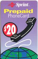 PUERTO RICO -  SPRINT Prepaid Card $20, Exp.date 31/03/02, Used - Puerto Rico