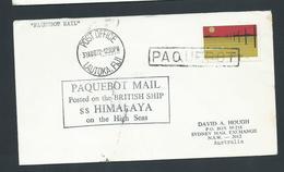 Fiji 1972 Paquebot Cover To Australia , Ship Himilaya , Australian Adhesive - Fiji (1970-...)