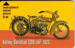 FINLAND - Harley Davidson 1200 Cc 1923, Turun Puhelin Telecard, Tirage 3800, Exp.date 12/00, Used - Motorbikes