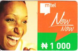 NIGERIA - Mtel Prepaid Card N 1000, Used - Nigeria