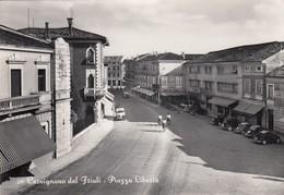 CERVIGNANO DEL FRIULI-UDINE-PIAZZA LIBERTà-CARTOLINA VERA FOTOGRAFIA VIAGGIATA IL 15-6-1953 - Udine