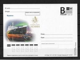 "Russia 2017, World First Atomic Icebreaker ""LENIN"" Post Card # 280/1 (AP-5) - Polar Ships & Icebreakers"