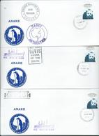 Australia 1983 Treaty FDC X 3 Casey Mawson Davis Special Private Ship Covers Clean Unaddressed - Australian Antarctic Territory (AAT)