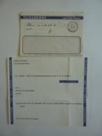 TELEGRAMME Cargo YANGTSE / FOWW Via SAINT-DENIS-REUNION-RADIO  Voie Télé France Distribué Par Poste Cachet à Date 1972 - Lettres & Documents