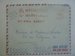 MESSAGERIES MARITIMES  DJIBOUTI  Cotes Des Somalis Affranchissement MECANIQUE  Flamme  1964    Avril2019 Clas Lettre - Afars Et Issas (1967-1977)