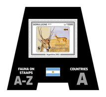 SIERRA LEONE 2019 - Fauna, Argentina. Official Issue. - Postzegels Op Postzegels
