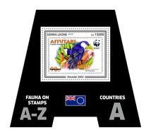 SIERRA LEONE 2019 - Fauna, Aitutaki: Parrots. Official Issue. - Postzegels Op Postzegels