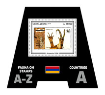SIERRA LEONE 2019 - Fauna, Armenia. Official Issue. - Postzegels Op Postzegels