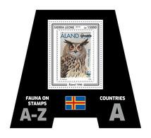 SIERRA LEONE 2019 - Fauna, Aland: Owl. Official Issue. - Postzegels Op Postzegels