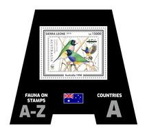 SIERRA LEONE 2019 - Fauna, Australia: Finch. Official Issue. - Postzegels Op Postzegels