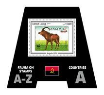SIERRA LEONE 2019 - Fauna, Angola. Official Issue. - Postzegels Op Postzegels