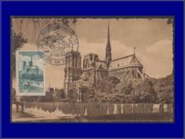 France, Carte Maximum, Yvert 776, Notre-Dame De Paris - Maximumkaarten