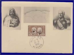 Algérie, Carte Maximum, Yvert 285, Emir Abdelkader Et Mal Bugeaud - Maximumkaarten