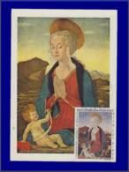Dahomey, Carte Maximum, Yvert 52 PA, La Vierge Et L'Enfant - Dahomey (1899-1944)