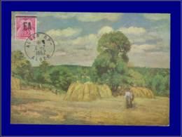 """Algérie """"EA"""", Carte Maximum, Peinture """"La Moisson"""" - Algerien (1924-1962)"""