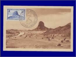 Algérie, Carte Maximum, Rocher Du Hoggar - Algerien (1924-1962)