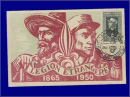 Algérie, Carte Maximum, Legions étrangère - Maximumkaarten
