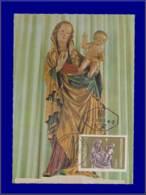 Autriche, Carte Maximum, Statue De La Sainte Vierge Et De L'enfant - Maximumkaarten