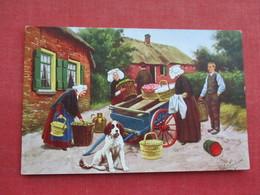Signed Artist ---- Dog Cart Rotterdam    Ref 3289 - Dogs