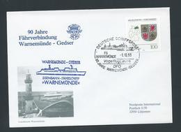 Germany 1993 Special Illustrated Ship Mail Cover Warnemunde - Gedser - [7] République Fédérale