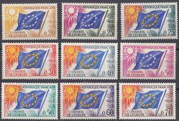 FRANCE - 1963/1971 - Servizio - Serie Completa Composta Da 9 Valori Nuovi MNH: Yvert 27/35. - Servizio
