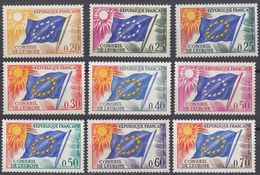 FRANCE - 1963/1971 - Servizio - Serie Completa Composta Da 9 Valori Nuovi MNH: Yvert 27/35. - Neufs