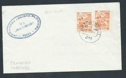 Yugoslavia 1955 Ship Mail Cover Kotor - Split To Austria Ship Maribor - Lettres & Documents