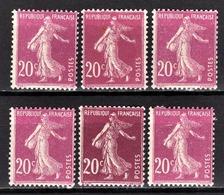 FRANCE 1924/1926 - LOT / Y.T. N° 190 X 6 - NEUFS** - - France