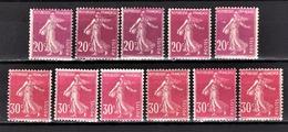FRANCE 1924/1926 - LOT / Y.T. N° 190 X 5 ET 191 X 6 - NEUFS** - - France