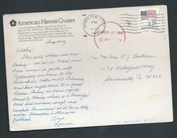 United States US 1987 Paquebot PPC Hawaii To Sacramento Ship Constellation - United States
