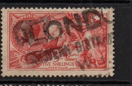 GB George V Seahorse; Five Shilling Rose Red First Engraving Good Used - Oblitérés