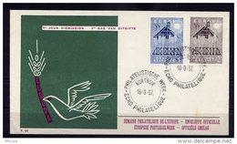 Lil3M19 EUROPA 1957 Belgique FDC Courtrai 16/09/1957 - 1957