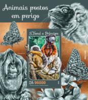 Sao Tome 2016  Fauna  Endangered Animals , Butterflies , Orangutan - Sao Tome And Principe