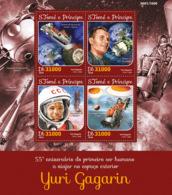 Sao Tome 2016  First Human To Journey Into Outer Space –Yuri Gagarin - Sao Tome And Principe