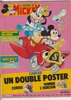 Rare Le Journal De Mickey Avec Bd Notre Dame De Paris Et Double Poster De Zorro Et Winni L'ourson - Mickey - Autres