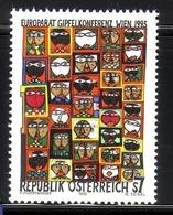 ÖSTERREICH MI-NR. 2111 ** MITLÄUFER 1993 - GIPFELKONFERENZ DES EUROPARATES - HUNDERTWASSER - Europäischer Gedanke
