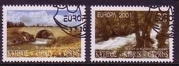 ZYPERN MI-NR. 976-977 O EUROPA 2001 - WASSER - Europa-CEPT