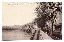 VIENNE (Isère) - Quais Du Rhône Et Pajot . - Vienne