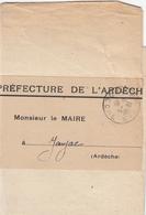 ARDECHE IMPRIME SOUS BANDE 1945 PRIVAS T04 EN FRANCHISE POSTALE / TXT SUR TRAITEMENT ET FAVEUR DONNEES A CERTAINS PRISON - Marcophilie (Lettres)