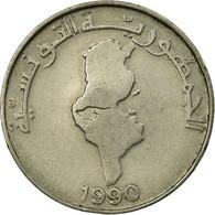 Monnaie, Tunisie, Dinar, 1990, Paris, TTB, Copper-nickel, KM:319 - Algeria
