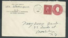 United States US Navy Ship Mail 1929 Cover Used On USS California - United States