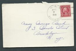 United States US Navy Ship Mail 1926 Cover Used On USS Shawmut - United States