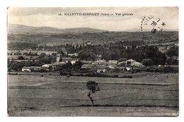 VILLETTE-SERPAIZE (Isère) - Vue Générale . - La Côte-Saint-André